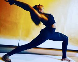 Photo of yoga student