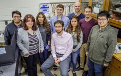 Photo of Marc Favata and his team of researchers at Montclair State