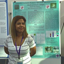 Erika Bernal Presenting at the 47th Benthic Ecology Meeting