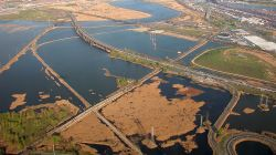 aerial image of the meadowlands in NJ