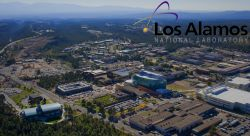 LANL aerial view with logo