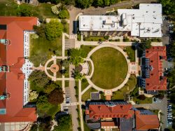 Historic quad between Russ, Chapin, College, and Freeman Halls