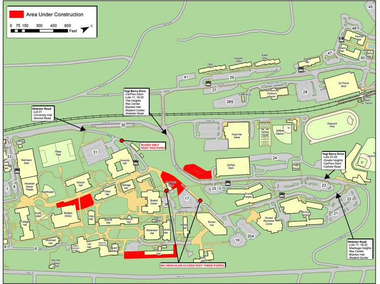 Montclair State University Campus Map Construction Update For Week Of October 8 – University Facilities
