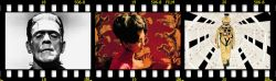 Collage film strip-style image including video stills from the films: In the Mood for Love, Man with a Movie Camera, and Rear Window.
