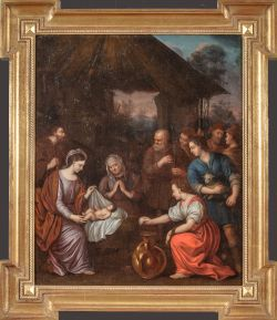 Adoration of the Shepherds by Cornelius Janssens Ceulin