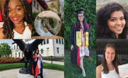 Photo collage of Fulbright 2021 semifinalists from Montclair State University