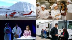 Photo collage of students in experiential learning programs.