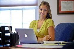 Student in Graduate School Online Program