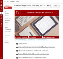 Empowering online teaching and learning
