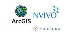 ArcGIS, NVIBO and tableau logos