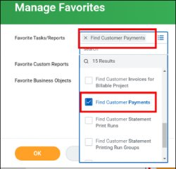 find customer payments reports