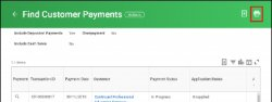 print icon on find customer payments