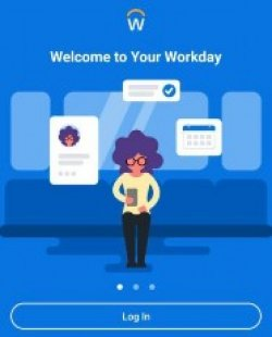 log in screen for workday