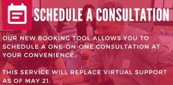 graphic of consultation scheduler