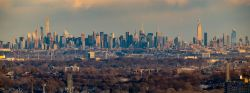Image of the Manhattan skyline taken from the Montclair State campus.