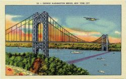 Postcard of George Washington Bridge