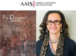 "photo of Dr. Teresa Fiore and the cover of her book ""Pre-Occupied Spaces"""