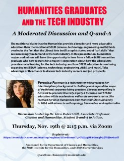 Flyer for November 19th lecture