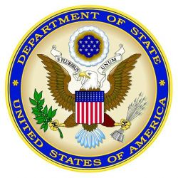 Seal of the United States of America Department of State.