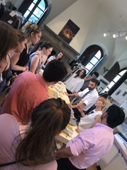 Students at the Brunello Cucinelli Tailloring School, Perugia Italy