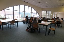 upper level silent study area