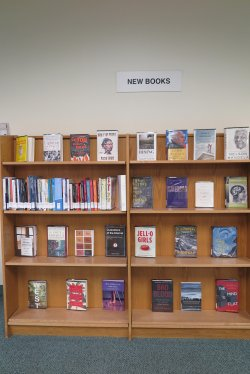 New Books shelves