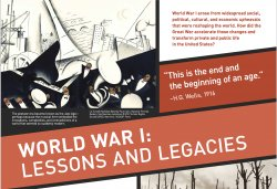 world war I lessons and legacies poster