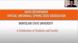 Mathematics Department virtual graduation