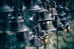 A group of bells and ancient bells.