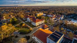 Bird's-eye view of the campus