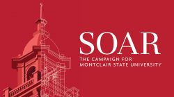 The logo for SOAR, the Campaign for Montclair State University