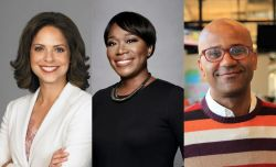 Broadcasters Soledad O'Brien, Joy Reid, and Kai Wright