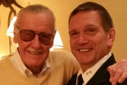 Montclair State University Chief of Police Paul Cell (right) with Stan Lee.