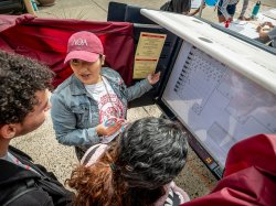 A voter registration drive and lessons on how to use a ballot box were part of Montclair State's efforts during National Student Registration Day.