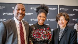Associate Provost for Undergraduate Education and Dean of University College David Hood, Secretary of Higher Education for the State of New Jersey Zakiya Smith Ellis, and Dr. Susan Cole