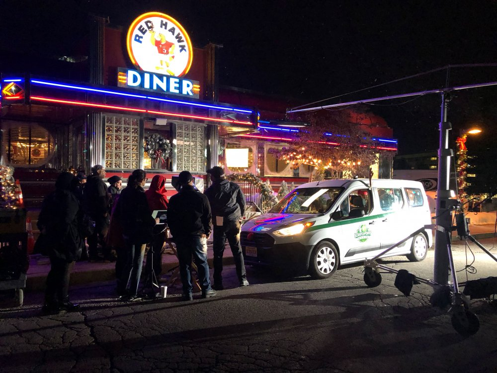 In October, a production company for NJ Lottery chose the Red Hawk Diner at Montclair State University for a Holiday Scratch-Offs commercial shoot.