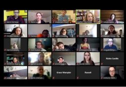 Montclair State University Singers Chorus class connects via Zoom