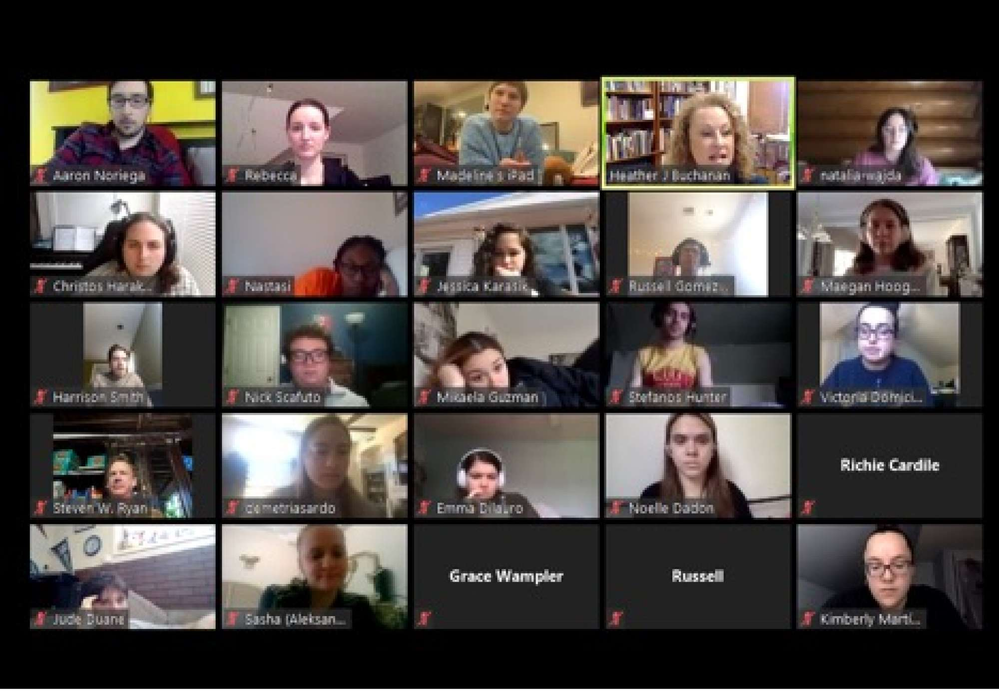 Montclair State University Singers Chorus class connects via Zoom