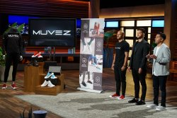 students on shark tank set