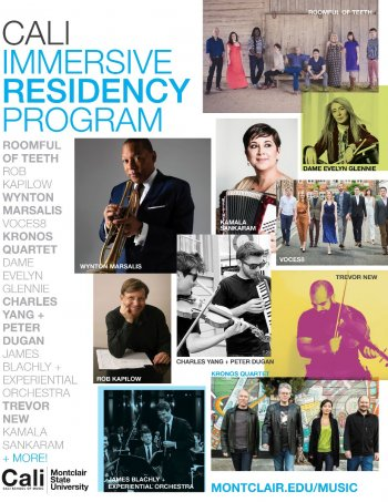 Image of a flyer for promoting the The Cali Immersive Residency program