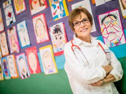 Image of Child Advocacy master's degree alumni and school nurse, Colette Crescas.