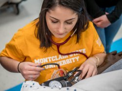 Montclair State School of Nursing student