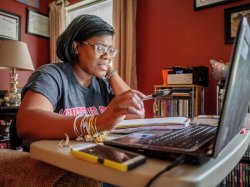 Image of Montclair State online graduate student