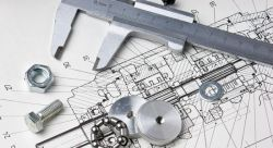 blueprint and measuring tools