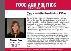 Food and Politics Speakers Series - Margaret Gray