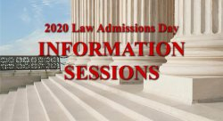 Graphic for 2020 Law Admission Day Info Sesstion
