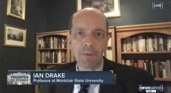 photo of professor ian drake from a live tv interview