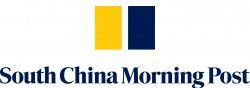 yellow and navy rectangle logo with South China Morning Post title