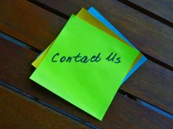contact us on a post it