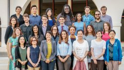 Group photo of Montclair State University's 2016 New Faculty Group